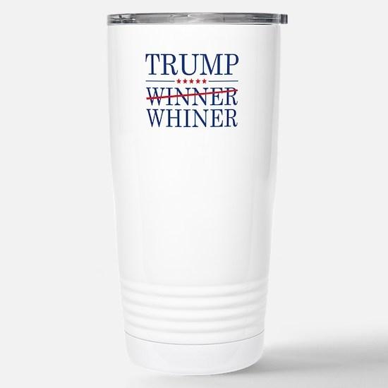 Trump Winner Whiner Ceramic Travel Mug