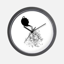 Teapot Pouring Music Wall Clock
