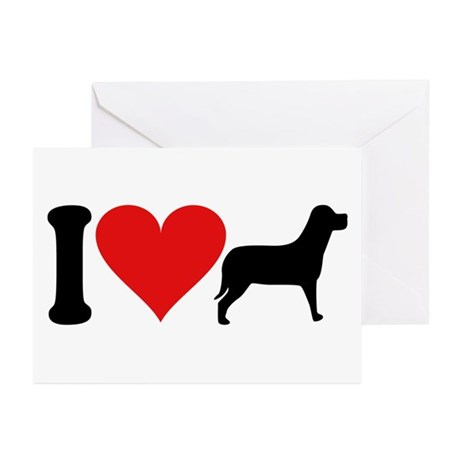 I Love Dogs (design) Greeting Cards (Pk of 10)