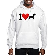 I Love Dogs (design) Hoodie