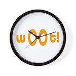 wOOt! WOOT! woot! Wall Clock