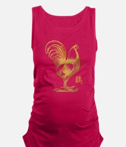 Year of The Chinese Fire Rooste Maternity Tank Top