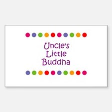 Uncle's Little Buddha Rectangle Decal