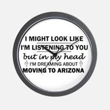 Moving to Arizona Wall Clock