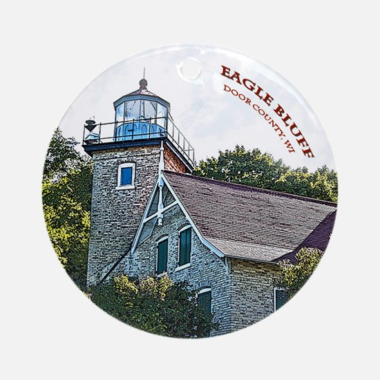 Eagle Bluff Lighthouse Round Ornament