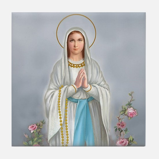 Blessed Virgin Mary Tile Coaster