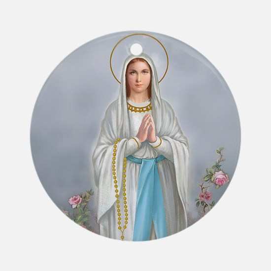 Blessed Virgin Mary Ornament (Round)