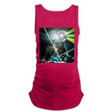 Howling disco wolves Dark Maternity Tank Top