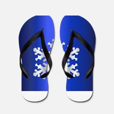 Single Snow Flake Decoration Flip Flops