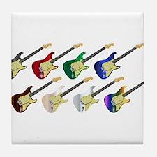Electric Guitar Collection Tile Coaster