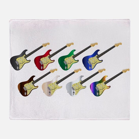 Electric Guitar Collection Throw Blanket
