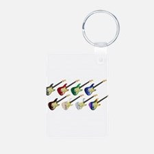 Electric Guitar Collection Keychains