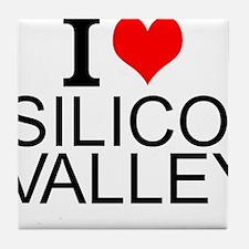 I Love Silicon Valley Tile Coaster