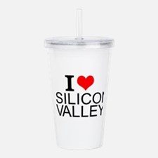 I Love Silicon Valley Acrylic Double-wall Tumbler