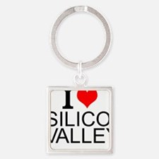I Love Silicon Valley Keychains