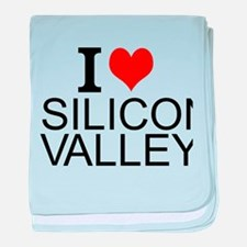 I Love Silicon Valley baby blanket