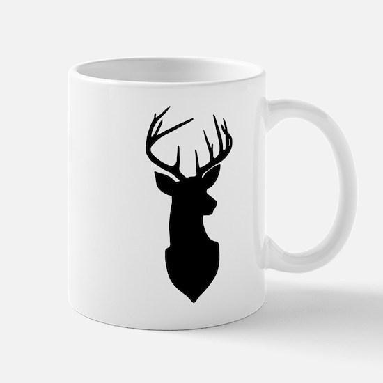 Buck Silhouette Deer with Antlers Mugs