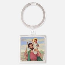 St. Christopher Square Keychain