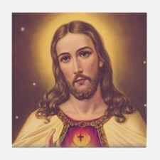 Sacred Heart of Jesus 01A Tile Coaster