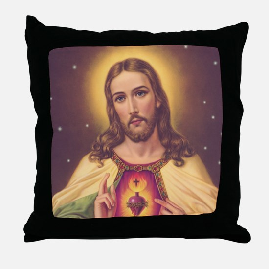 Sacred Heart of Jesus 01A Throw Pillow