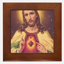 Sacred Heart of Jesus 01A Framed Tile