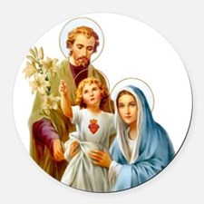 The Holy Family (Style 2) Round Car Magnet
