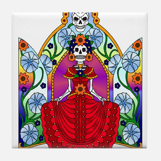 Best Seller Sugar Skull Tile Coaster