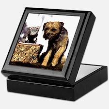 Border Terrier and Rat Keepsake Box