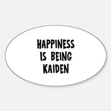 Happiness is being Kaiden Oval Decal