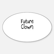 Future Clown Oval Decal