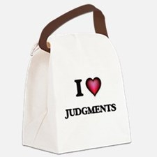 I Love Judgments Canvas Lunch Bag