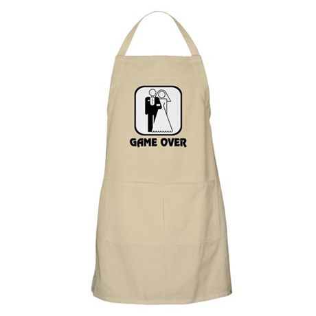 Wedding Symbol: Game Over BBQ Apron by jestdesigns