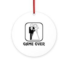 Wedding Symbol: Game Over Ornament (Round)