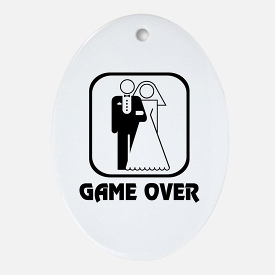 Wedding Symbol: Game Over Oval Ornament