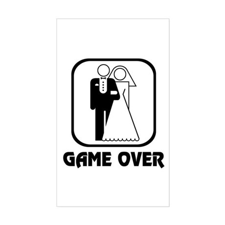 Wedding Symbol: Game Over Rectangle Sticker