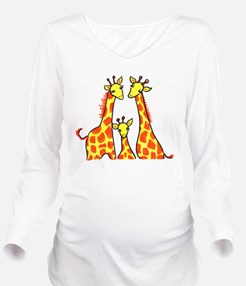 Cute Colorful daddy Long Sleeve Maternity T-Shirt