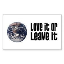 Love It or Leave It: Earth Rectangle Decal