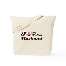 I love my Polish Husband Tote Bag