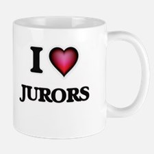 I Love Jurors Mugs