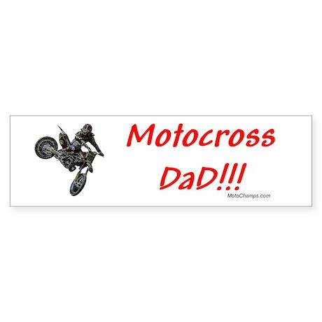 """""""Motocross Dad"""" Bumper Sticker"""