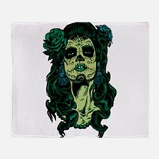 Best Seller Sugar Skull Throw Blanket