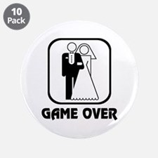 "Wedding Symbol: Game Over 3.5"" Button (10 pack)"