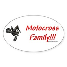 """Motocross Family"" Oval Decal"
