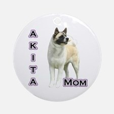 Akita Mom4 Ornament (Round)