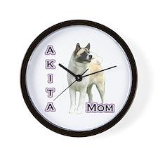 Akita Mom4 Wall Clock