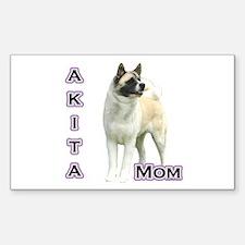 Akita Mom4 Rectangle Decal