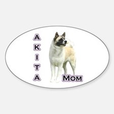 Akita Mom4 Oval Decal