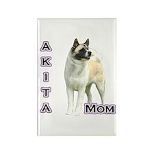Akita Mom4 Rectangle Magnet (10 pack)