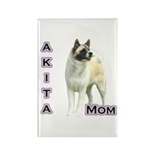 Akita Mom4 Rectangle Magnet