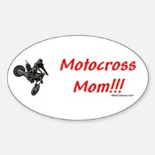"""Motocross Mom"" Oval Decal"